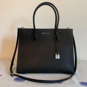Michael Kors Mercer Leather Accordion Tote Bag